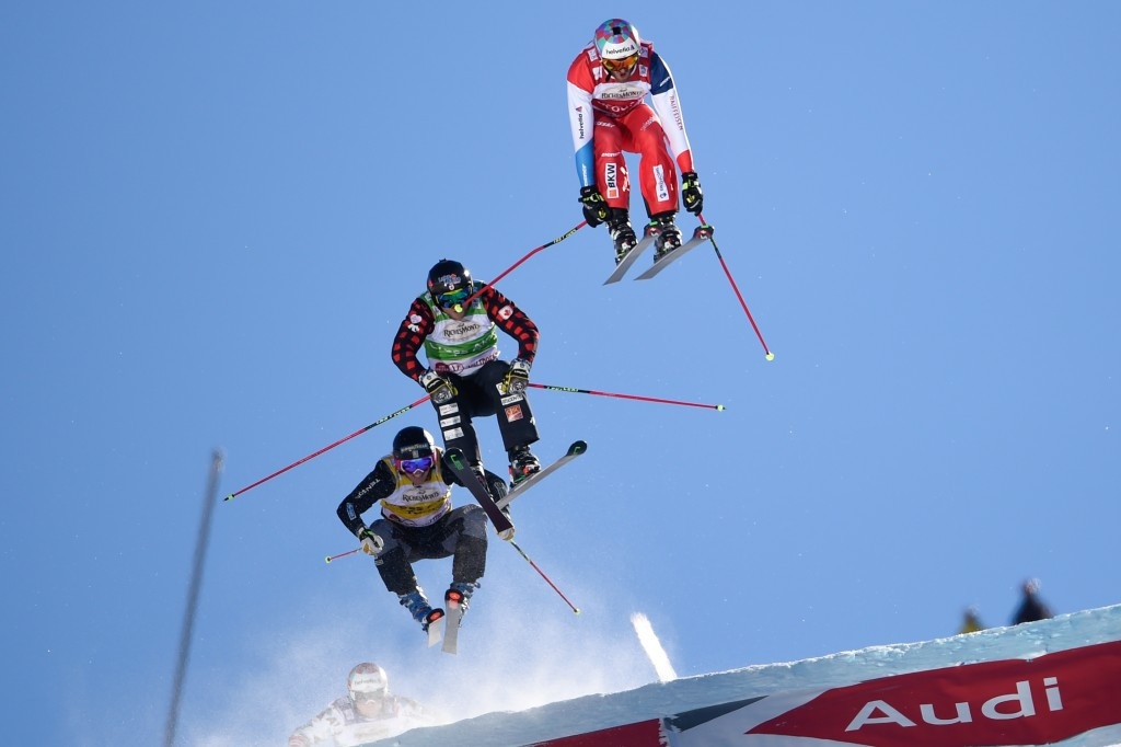 Alex Fiva in the air during the final ©Getty Images