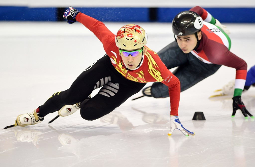 Wu delights home crowd with victory at ISU Short Track World Cup in Shanghai