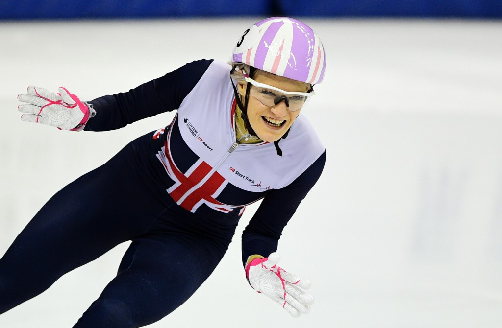 Elise Christie continued her good start to the season by winning the women's 500m race ©Getty Images