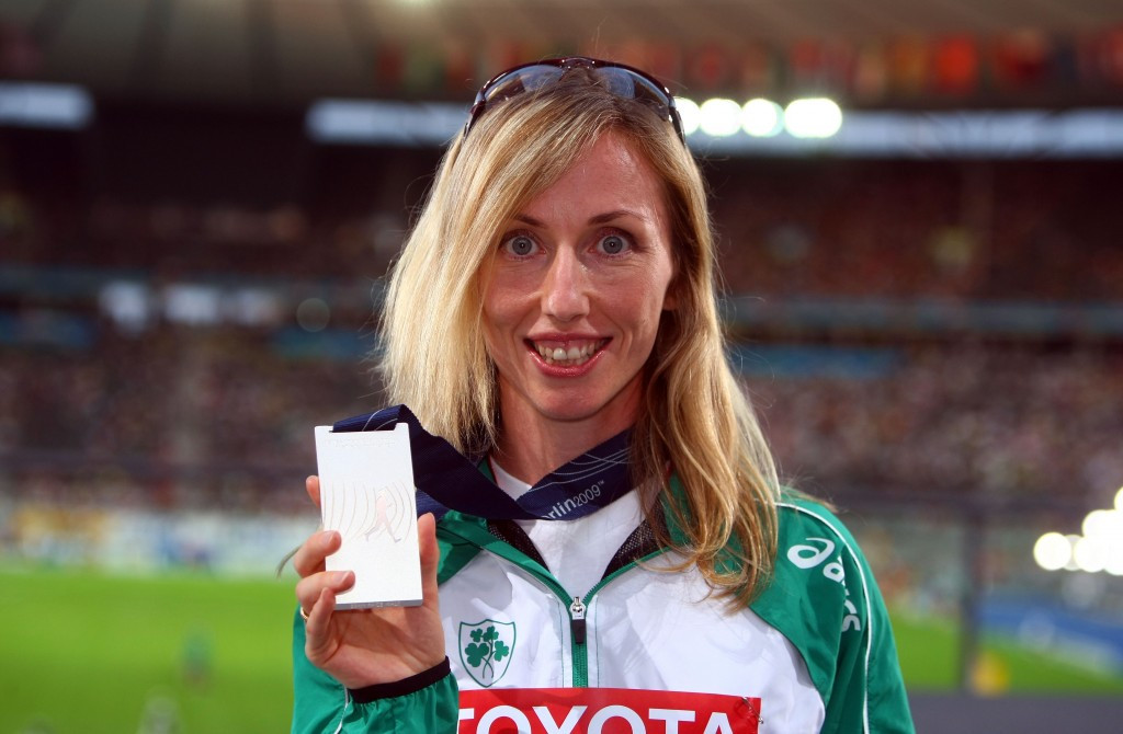 Irish racewalker Olive Loughnane is among athletes awaiting prize money ©Getty Images