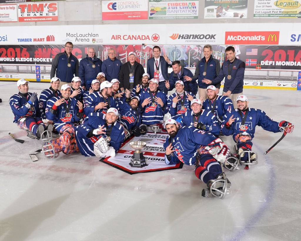 United States clinch third straight World Sledge Hockey Challenge title