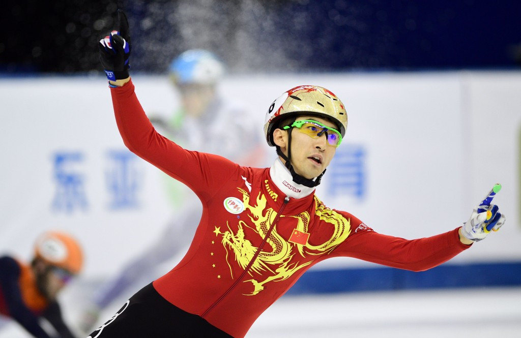 Wu and Christie repeat wins in second set of 500m events at ISU Short Track World Cup in Shanghai
