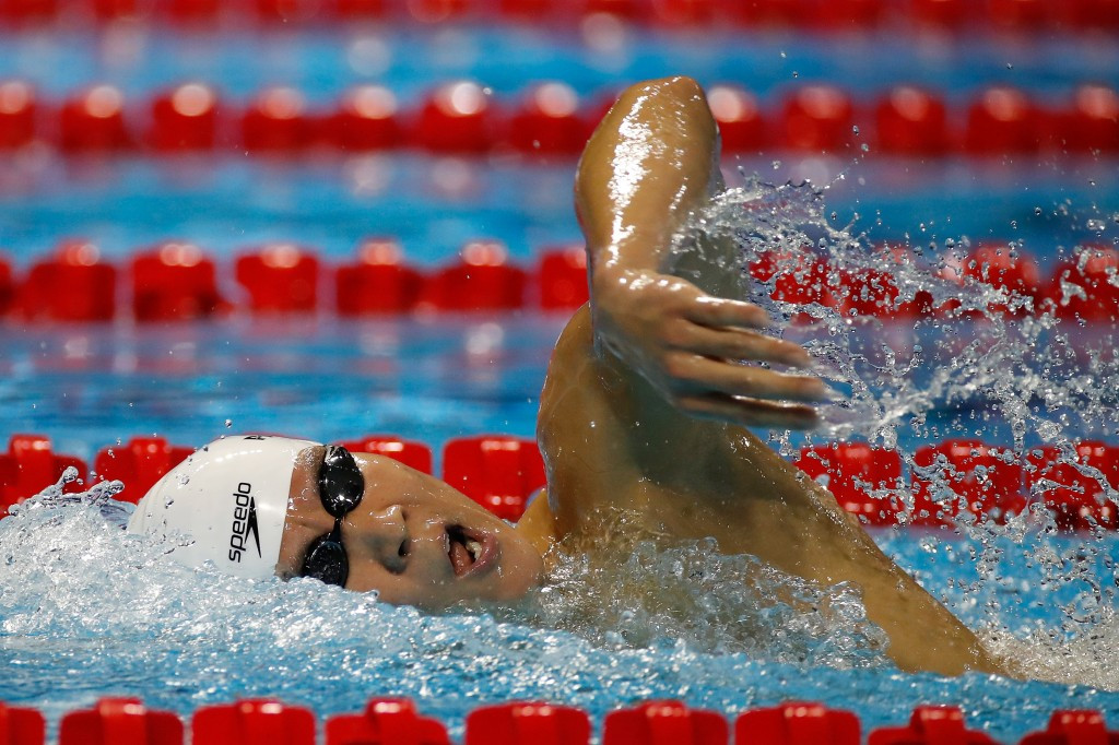 South Korea's Park Tae-hwan won gold in the men's 1,500m freestyle ©Getty Images