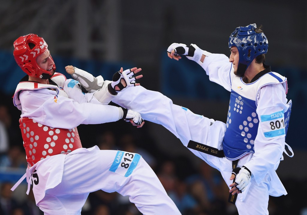 Taekwondo was one of 20 sports that featured on the programme at the Baku 2015 European Games ©Getty Images