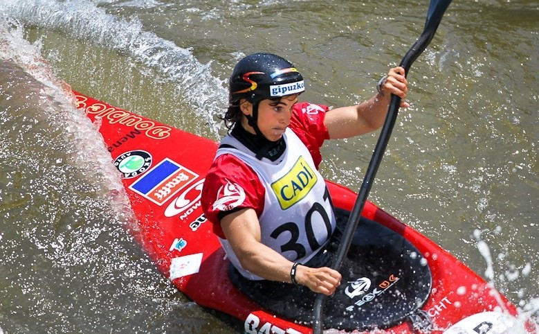 Maialen Chourraut coped best with the difficult conditions in Kraków to win the K1 event at the ICF Slalom World Cup ©ICF