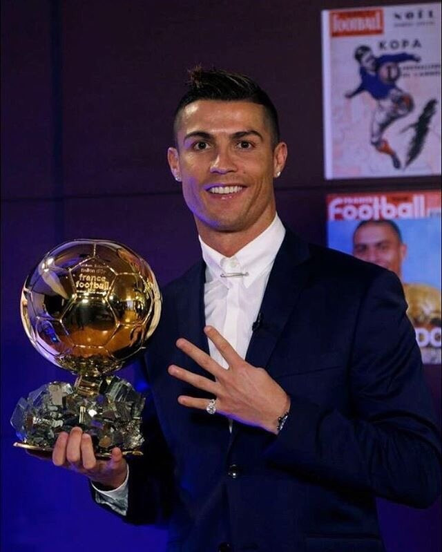 Cristiano Ronaldo has won the Ballon d'Or for a fourth time ©Cristiano/Twitter