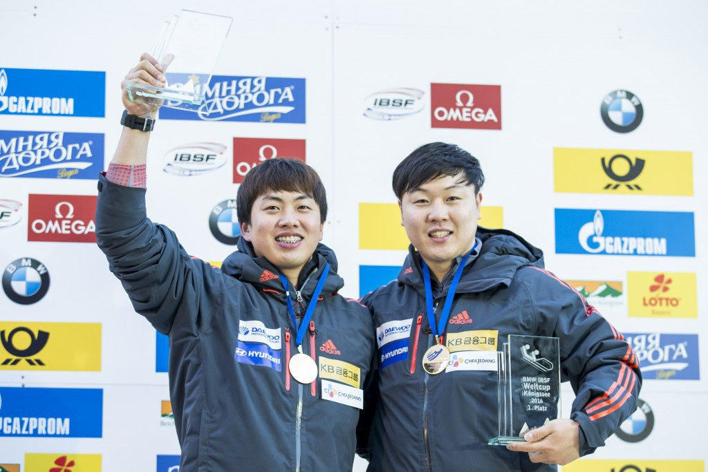 Won Yun-jong and Seo Young-woo are the reigning two-man World Cup champions ©Getty Images