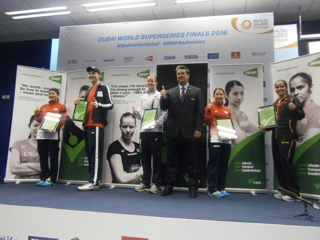 "BWF have appointed five integrity ambassadors as part of their ""I am badminton"" initiative ©ITG"