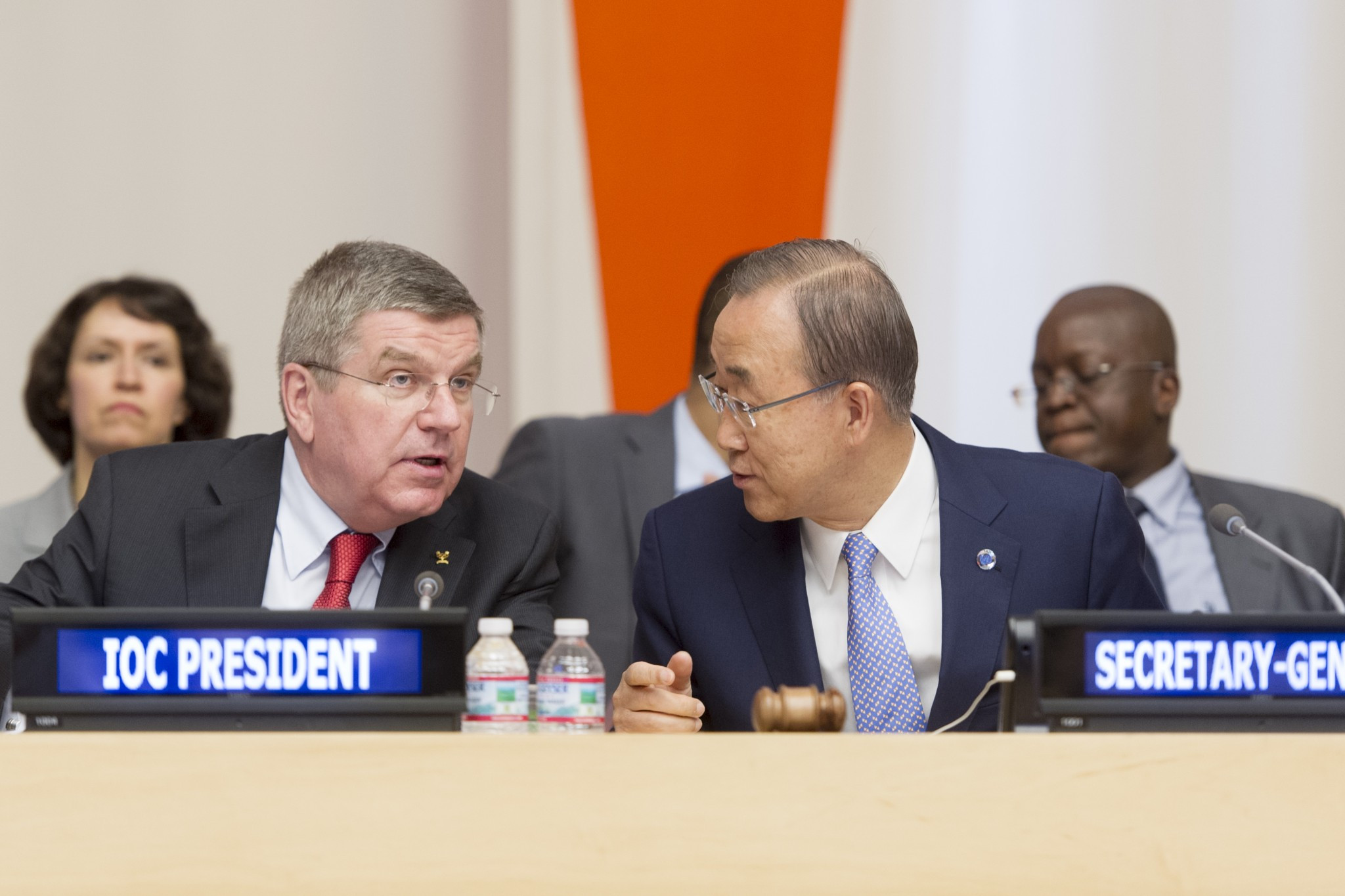 Thomas Bach told the UN that all people are equal in sport ©United Nations