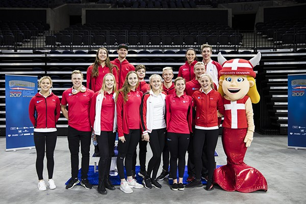 Olympic champion sets sights on home European Short Course Championships as organisers unveil mascot for event