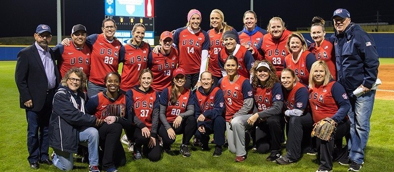 Nineteen former and current Olympic softball players from the United States have reunited for an exhibition match ©USA Softball