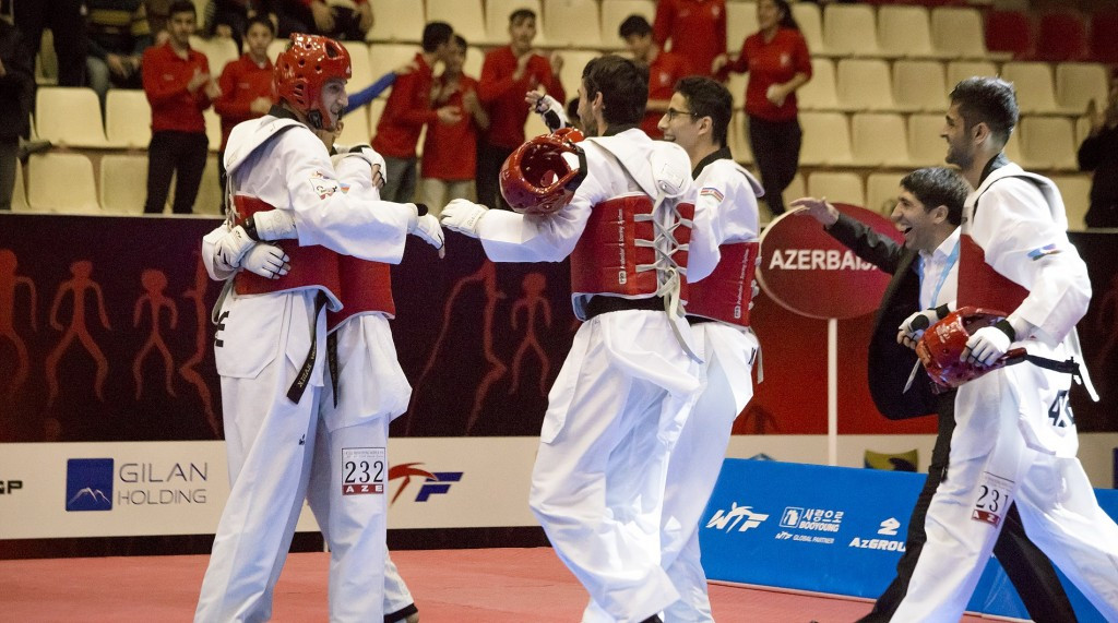 Azerbaijan retained their men's team title with a dominant display over the two day competition ©WTF