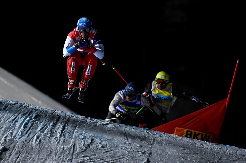 Switzerland's Romain Detraz won his first-ever World Cup race in the men's event ©Getty Images