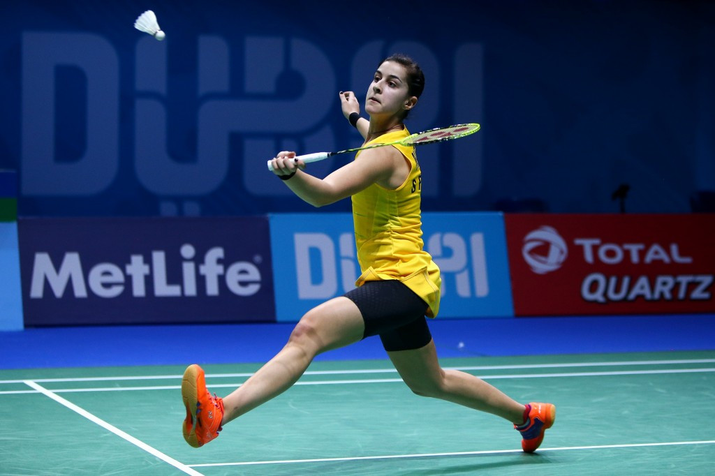 Olympic champion Marin falls to dramatic defeat on opening day of BWF Dubai World Superseries Finals
