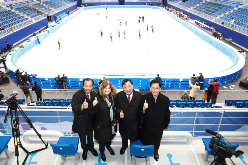 Gangneung Ice Arena officially declared open prior to Pyeongchang 2018 short track test event