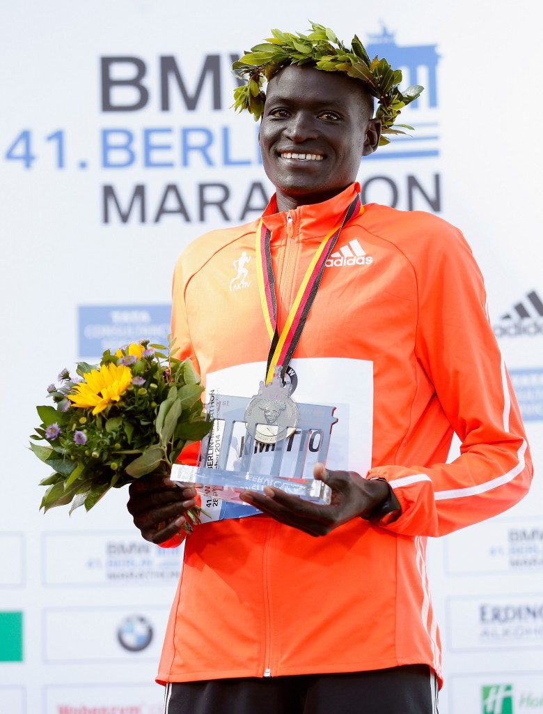 Dennis Kipruto Kimetto broke the world record with a time of 2:02.57 in 2014 ©Getty Images