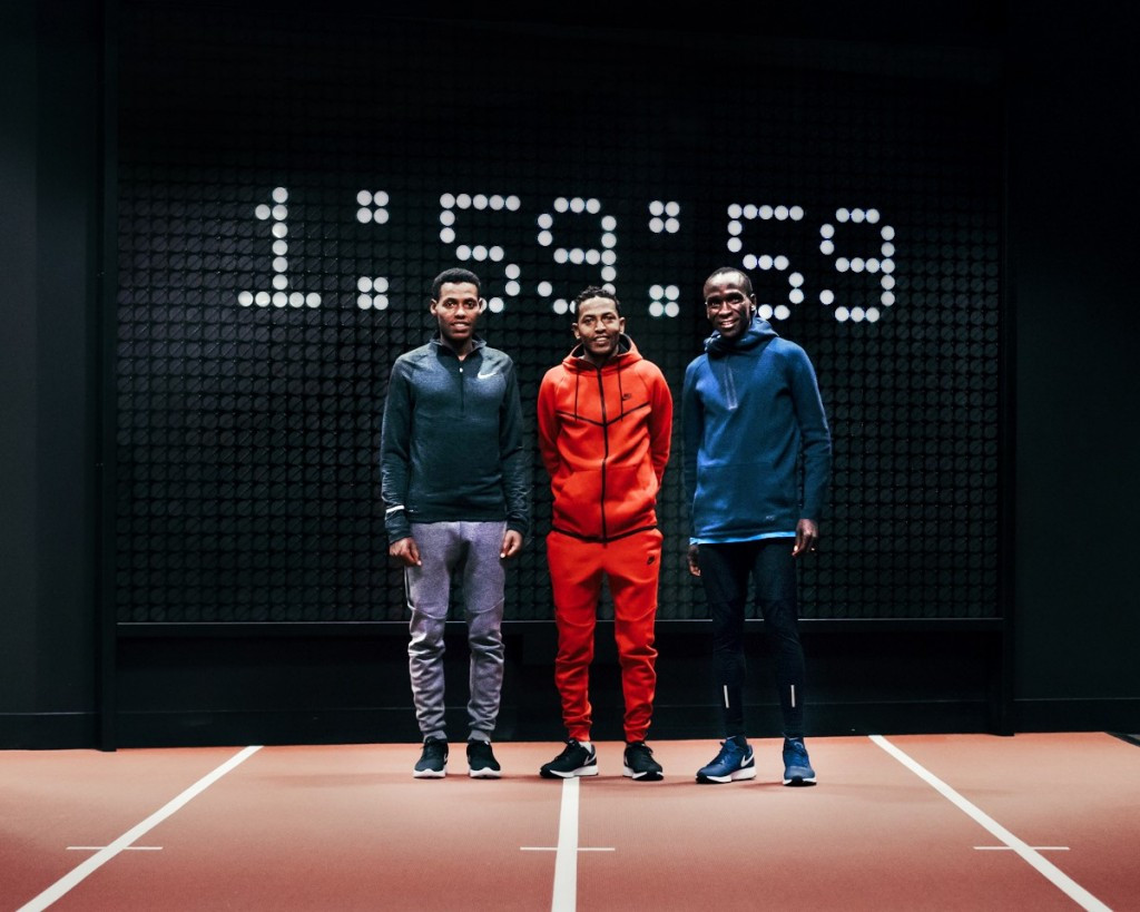 Nike's Breaking2 project will seek to propel three runners - (from left) Ethiopia's Lelisa Desisa, Eritrea's Zersenay Tadese and Kenya's Olympic champion Eliud Kipchoge - to the first sub two-hour marathon ©Nike