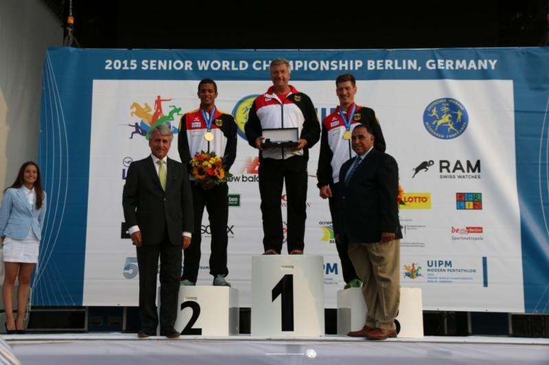 Germany powered to men's team relay gold in the after a superb combined event performance ©UPIM