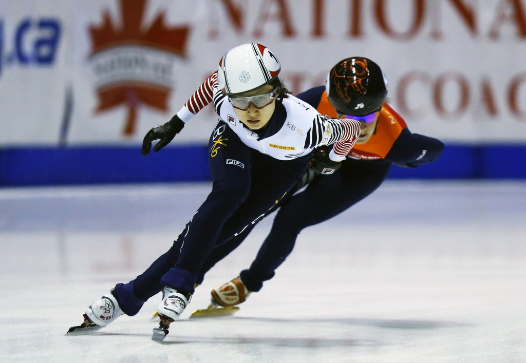 South Korea's Choi among those in action as ISU Short Track World Cup continues with Pyeongchang 2018 test event