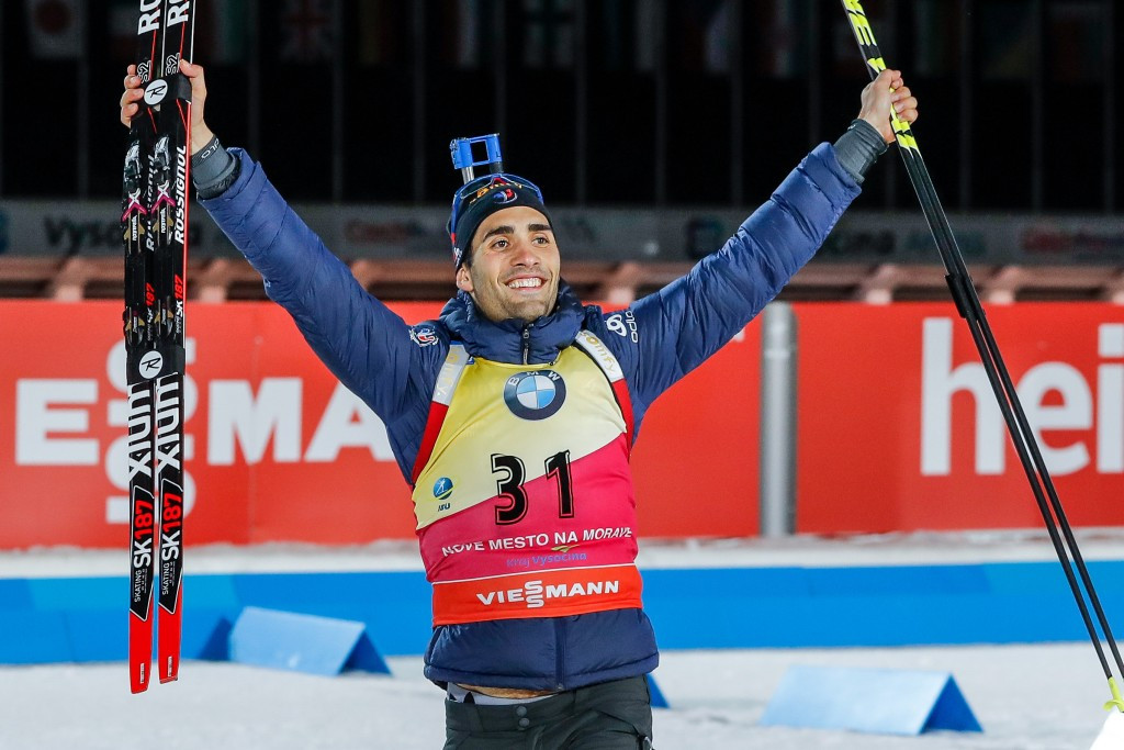 Fourcade becomes first man to win three Biathlon World Cup sprints in December