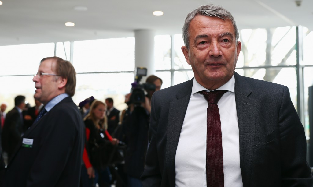 Wolfgang Niersbach was found to have failed to report possible misconduct during Germany's successful bid to host the 2006 FIFA World Cup, which they were awarded ahead of South Africa ©Getty Images