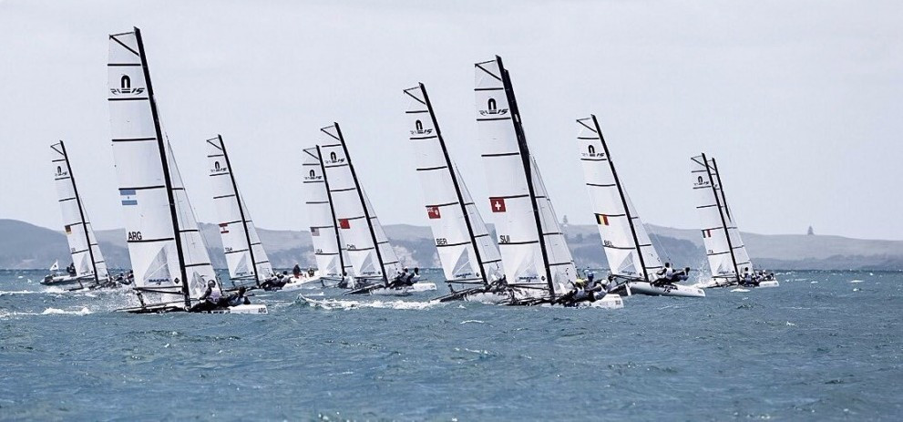 French duo take early Nacra 15 lead at Youth Sailing World Championships