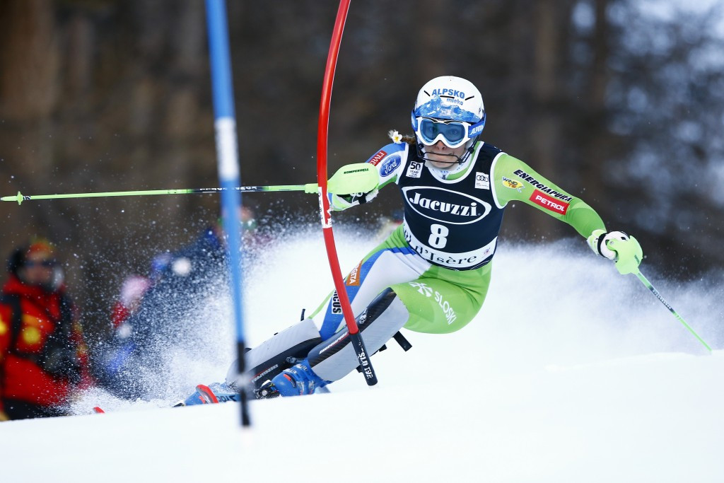 Slovenia's Ilka Stuhec won the women's Alpine combined event in Val d'Isere ©Getty Images