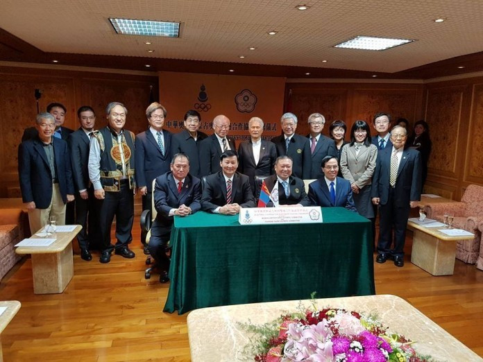 The Presidents of the Mongolian National Olympic Committee and the Chinese Taipei Olympic Committee have signed a bilateral co-operation agreement in Taipei ©MNOC