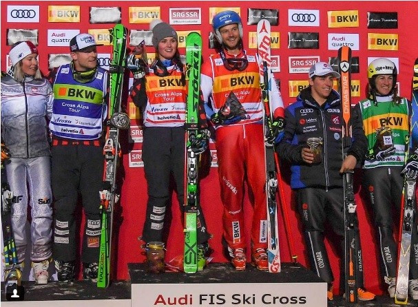 Olympic champions Thompson and Chapuis move closer to overall titles with victories at FIS Ski Cross World Cup
