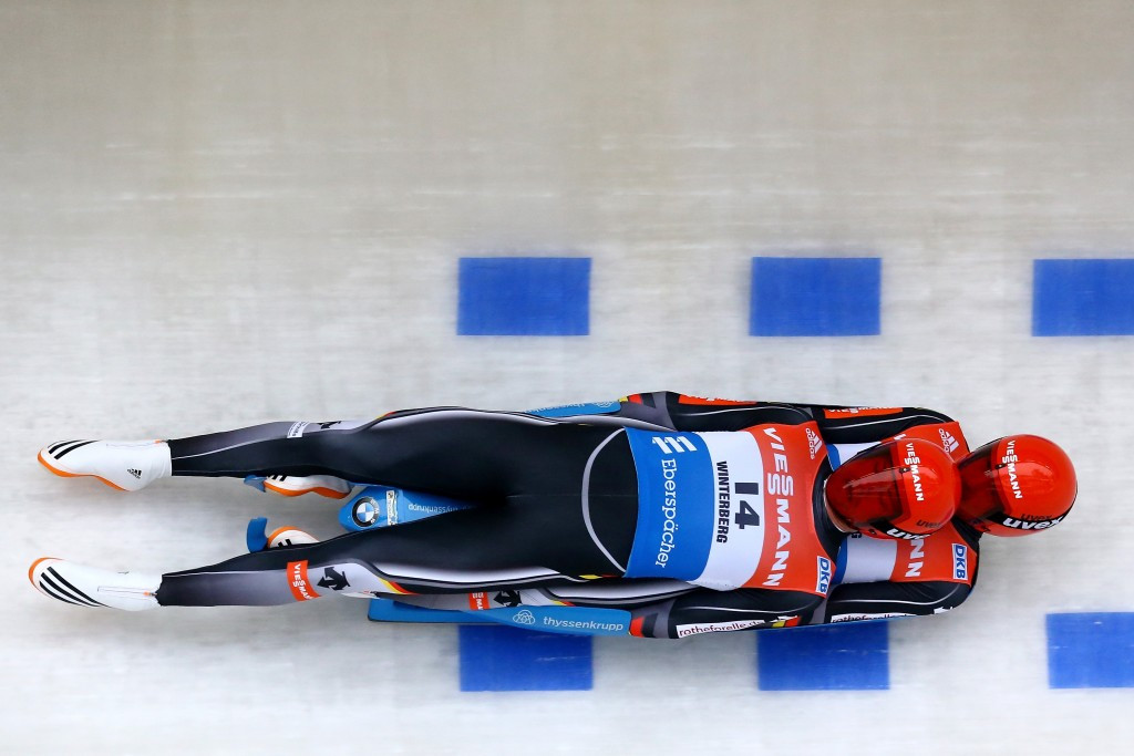 Eggert and Benecken return to top of podium with sprint victory at FIL World Cup