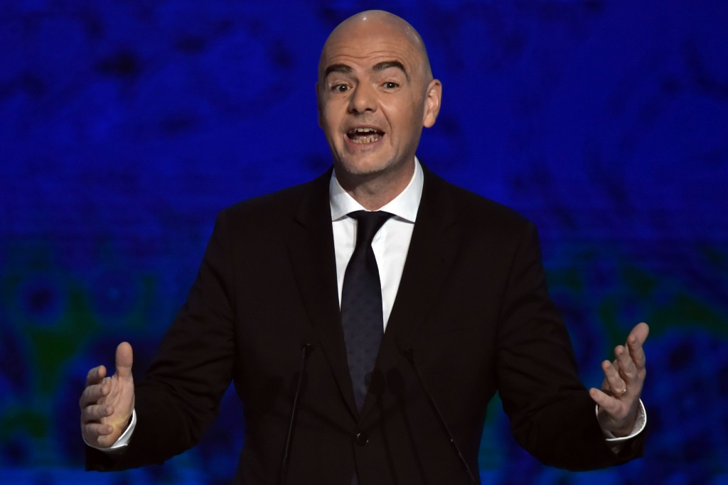 FIFA President Gianni Infantino has defended proposals to expand the World Cup to as many as 48 teams ©Getty Images