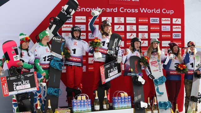 France and Spain win team competitions at FIS Snowboard Cross World Cup
