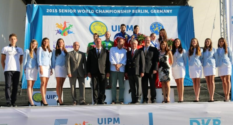 China's Liang Wanxia and Chen Qian defended their women's relay world title ©UIPM