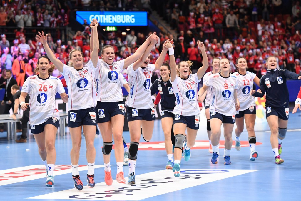 Norway celebrate their superb final victory over The Netherlands ©Getty Images