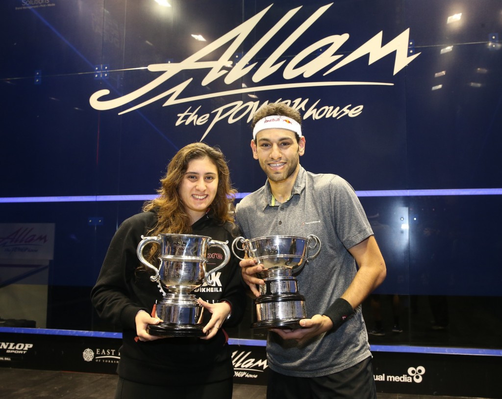 The British Open, won last year by Nour El Sherbini and  Mohamed Elshorbagy, will offer equal prize money ©PSA