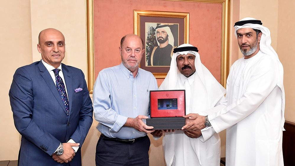 WKF President given Card of Honour of Al Ahli Club in Dubai
