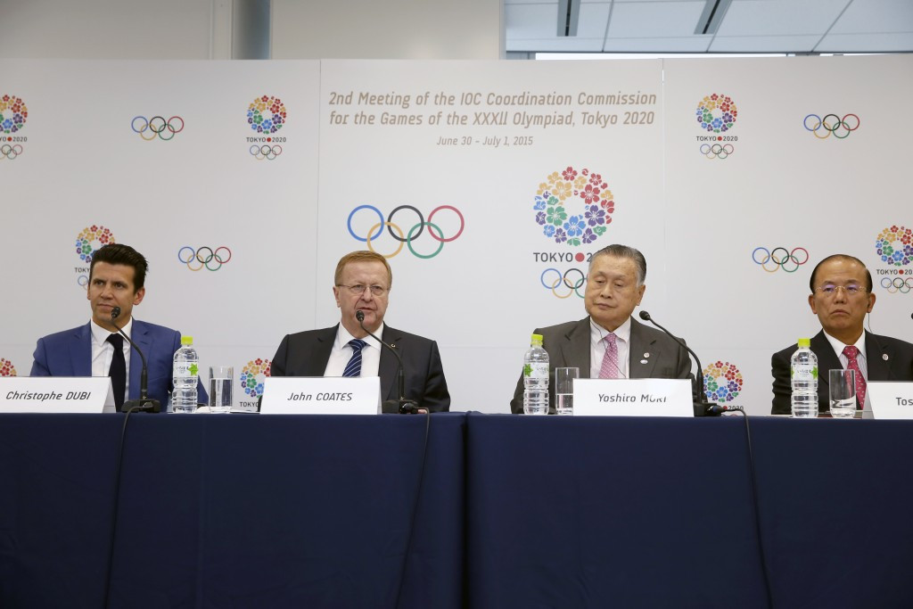 Yoshirō  Mori admitted Tokyo 2020 faced pressure in Japan's tight labour market but IOC Coordination Commission chairman John Coates was happy with the progress made so far ©Tokyo 2020