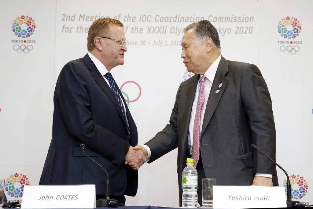 IOC Coordination Commission chairman John Coates praised the work done so far by Tokyo 2020, led by Yoshirō  Mori, in preparing for Olympics and Paralympics