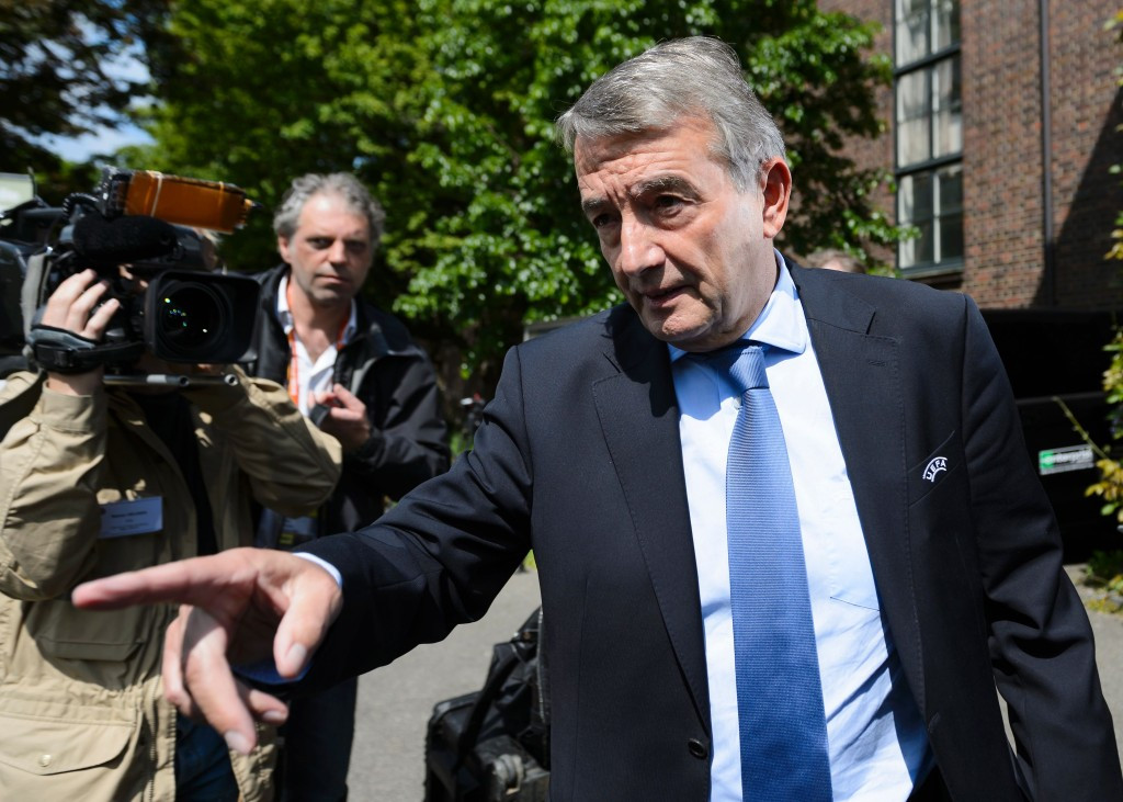 Suspended Niersbach steps down from senior posts at FIFA and UEFA