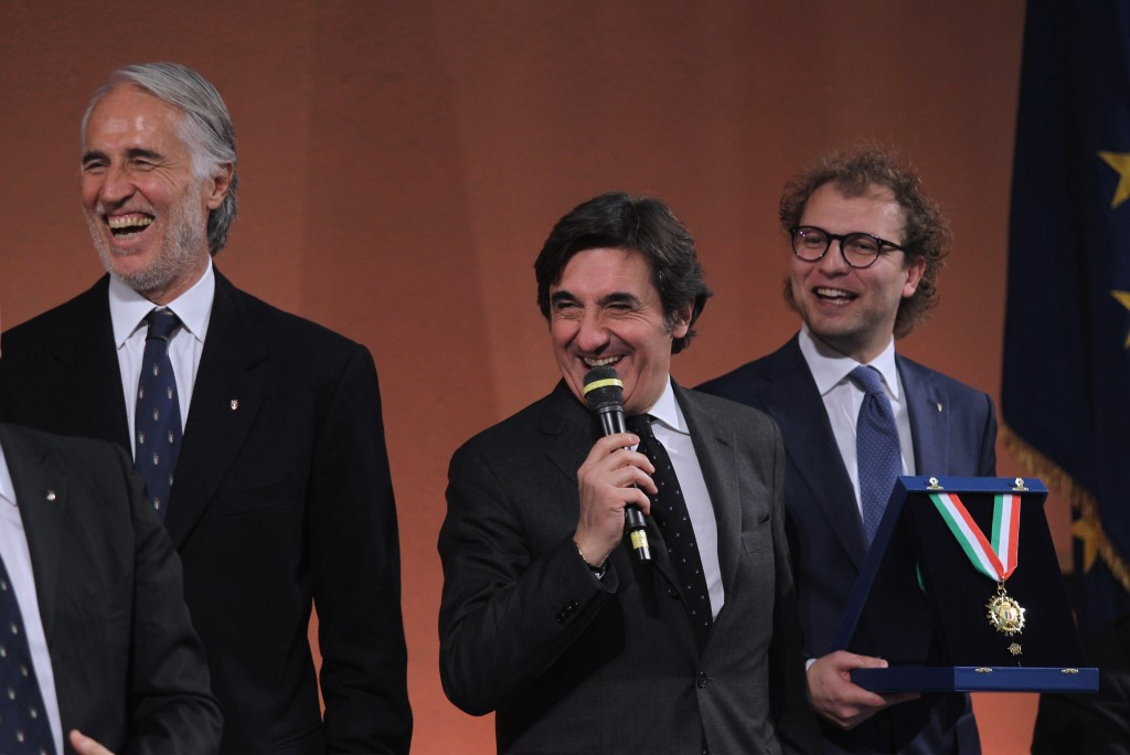 Giovanni Malago (left) was speaking at CONI's Collari d'Oro Awards at Foro Italico ©Getty Images