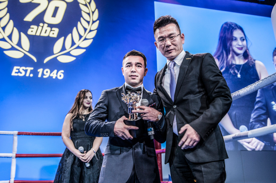 Uzbekistan's Hasanboy Dusmatov was voted the AIBA male boxer of the year after winning the Olympic light flyweight gold medal at Rio 2016 ©AIBA