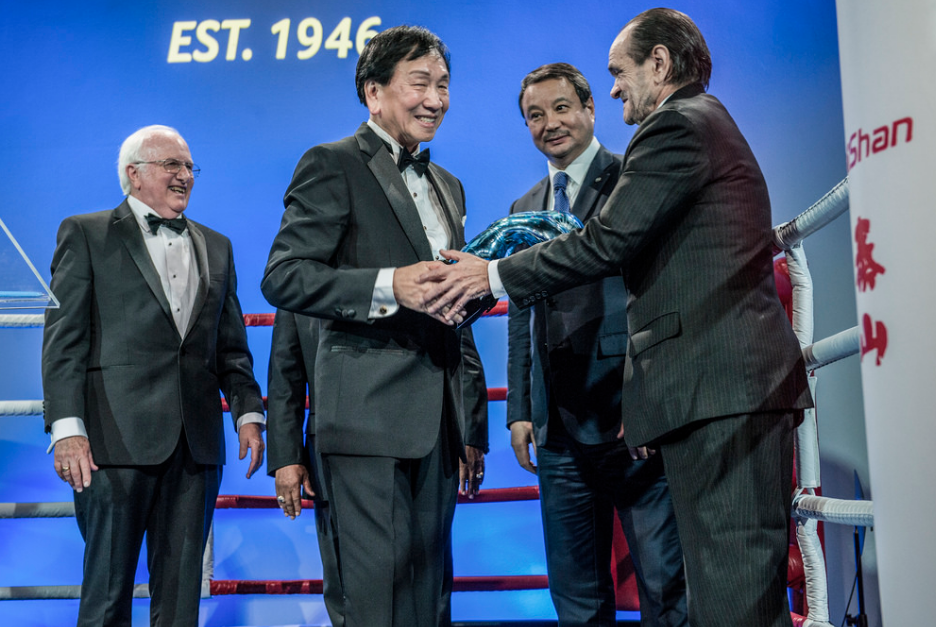 AIBA President C K Wu was given a special award to mark his 10 years as head of the world governing body ©AIBA
