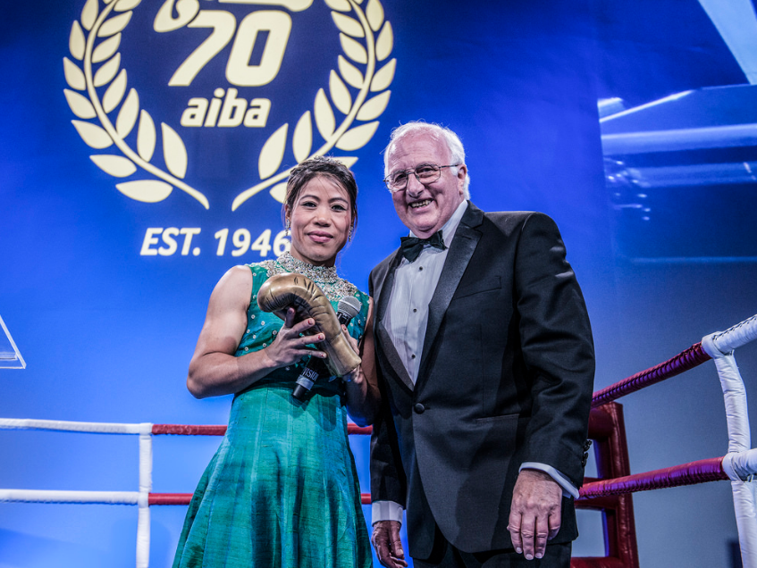 India's Mary Kom, a pioneer of women's boxing, was recognised as a boxing legend ©AIBA