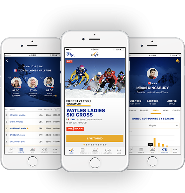 The International Ski Federation has launched its new app ©FIS
