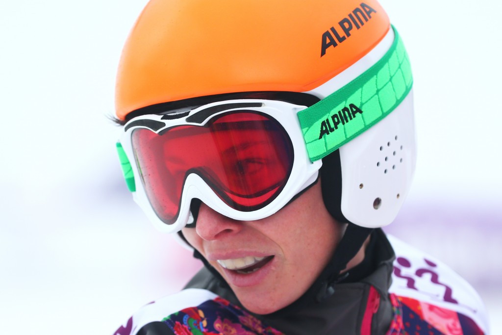Germany's Heidi Zacher triumphed in the women's big final at the FIS Ski Cross World Cup in Innichen today ©Getty Images