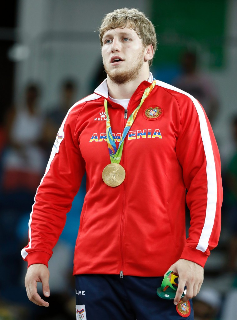 Olympic gold medal-winning wrestler Artur Aleksanyan has been named Armenia's athlete of the year for the third time in a row ©Getty Images