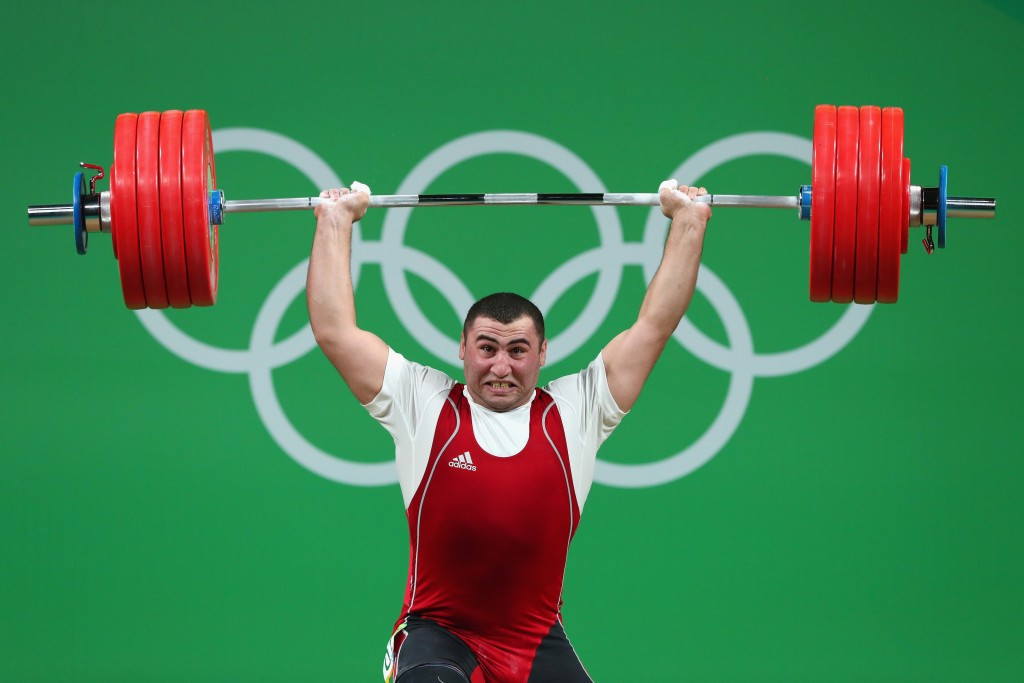 Weightlifter Simon Martirosyan, silver medallist in the men's 105kg category at Rio 2016, finished third in the Armenian athlete of the year rankings ©Getty Images