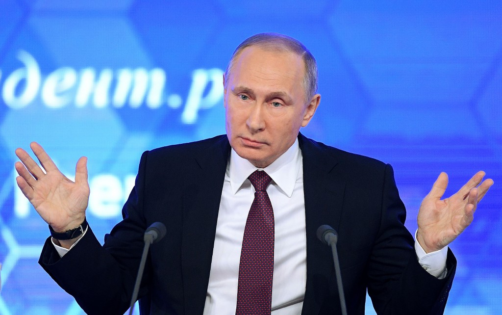 Putin speaking during his annual press conference. The IOC has today announced it has opened disciplinary proceedings against 28 Russian athletes from Sochi 2014 ©Getty Images