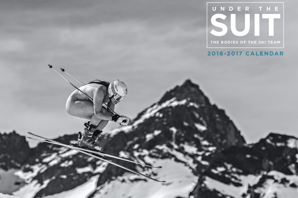 American skiers pose for nude calendar to raise funds for competition