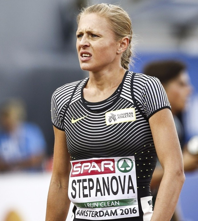 Vladimir Mokhnev, the former coach of Yuliya Stepanova (pictured), has been banned from athletics for 10 years ©Getty Images
